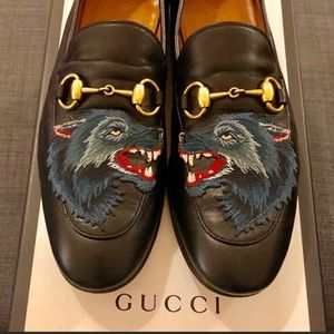 Gucci special edition wolf loafers for men